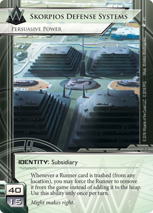 Android Netrunner Skorpios Defense Systems: Persuasive Power Image