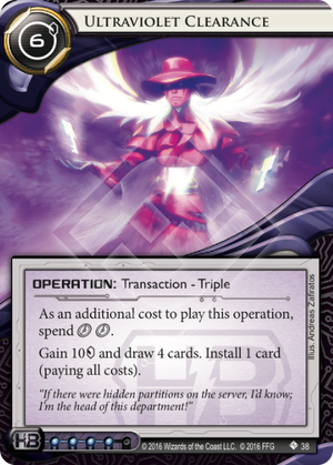 Android Netrunner Ultraviolet Clearance Image