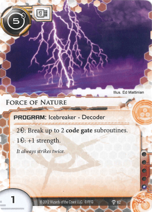 Android Netrunner Force of Nature Image