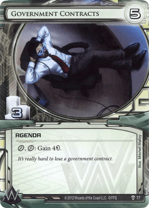 Android Netrunner Government Contracts Image