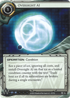 Android Netrunner Oversight AI Image