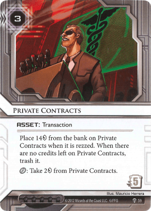 Android Netrunner Private Contracts Image