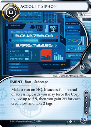 Android Netrunner Account Siphon Image