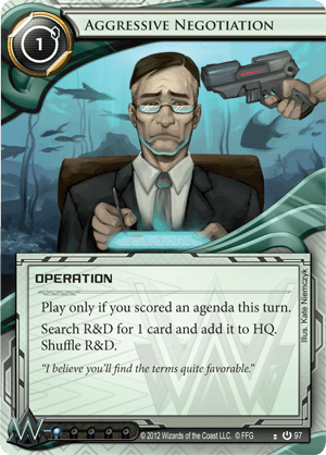 Android Netrunner Aggressive Negotiation Image