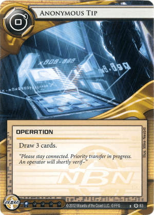 Android Netrunner Anonymous Tip Image