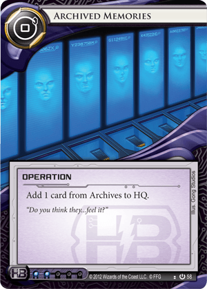 Android Netrunner Archived Memories Image