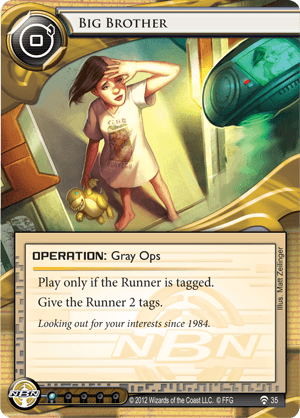 Android Netrunner Big Brother Image