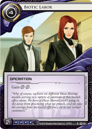 Android Netrunner Biotic Labor Image