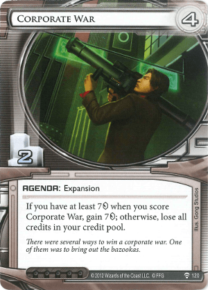 Android Netrunner Corporate War Image