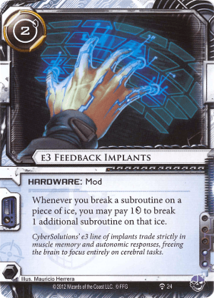 Android Netrunner e3 Feedback Implants Image