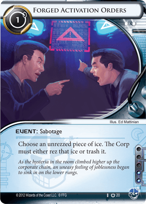 Android Netrunner Forged Activation Orders Image
