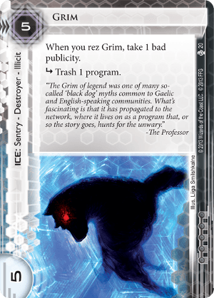 Android Netrunner Grim Image