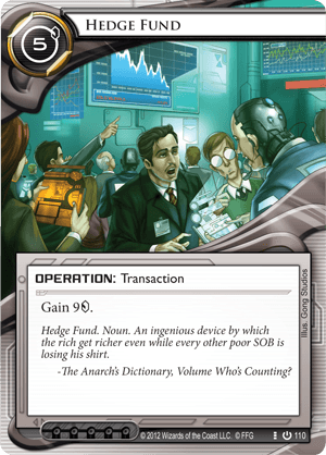 Android Netrunner Hedge Fund Image