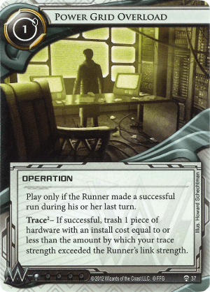 Android Netrunner Power Grid Overload Image