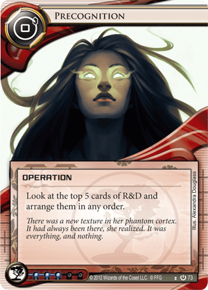 Android Netrunner Precognition Image