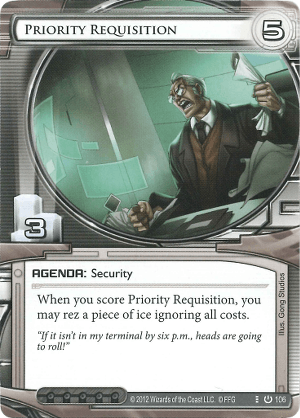 Android Netrunner Priority Requisition Image