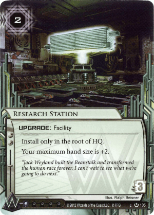 Android Netrunner Research Station Image