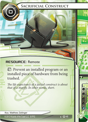 Android Netrunner Sacrificial Construct Image