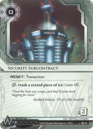 Android Netrunner Security Subcontract Image