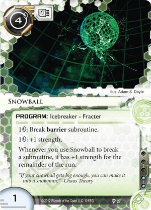 Android Netrunner Snowball Image