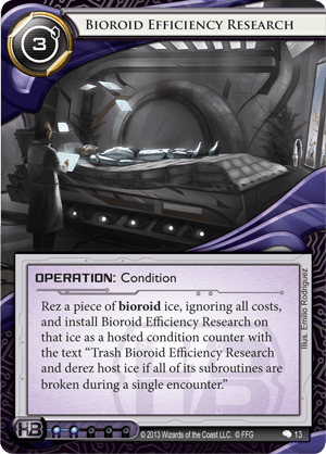 Android Netrunner Bioroid Efficiency Research Image