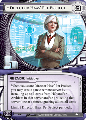 Android Netrunner Director Haas' Pet Project Image