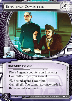 Android Netrunner Efficiency Committee Image