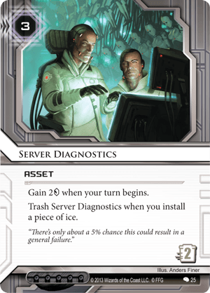 Android Netrunner Server Diagnostics Image