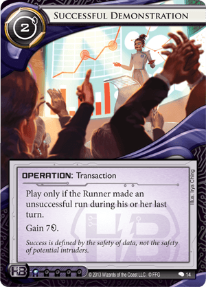 Android Netrunner Successful Demonstration Image
