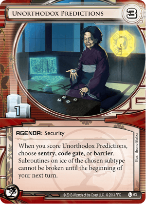 Android Netrunner Unorthodox Predictions Image