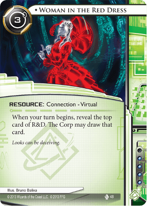 Android Netrunner Woman in the Red Dress Image