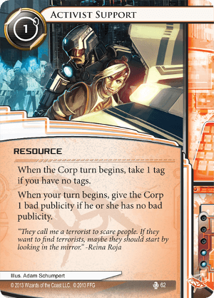 Android Netrunner Activist Support Image