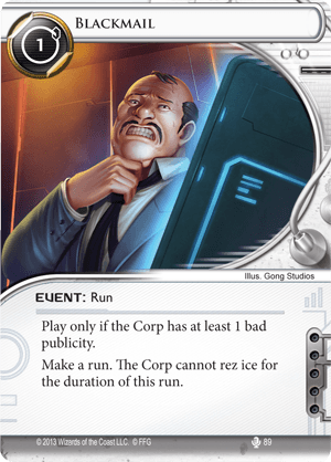 Android Netrunner Blackmail Image