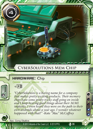 Android Netrunner CyberSolutions Mem Chip Image