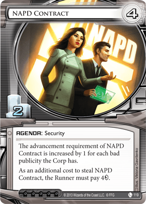 Android Netrunner NAPD Contract Image