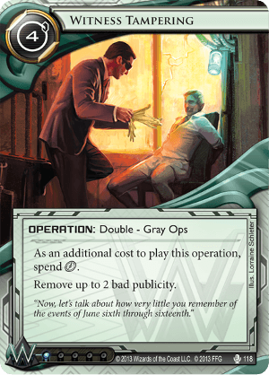 Android Netrunner Witness Tampering Image