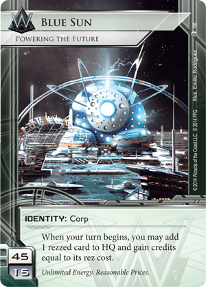 Android Netrunner Blue Sun: Powering the Future Image
