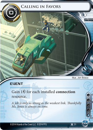Android Netrunner Calling in Favors Image
