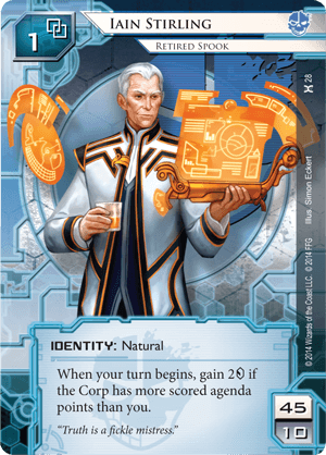 Android Netrunner Iain Stirling: Retired Spook Image