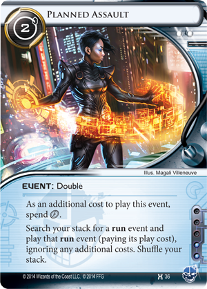 Android Netrunner Planned Assault Image