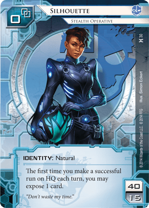 Android Netrunner Silhouette: Stealth Operative Image
