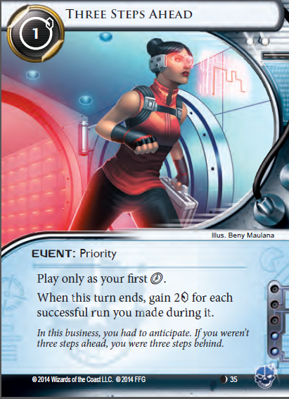 Android Netrunner Three Steps Ahead Image