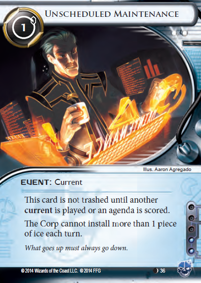 Android Netrunner Unscheduled Maintenance Image