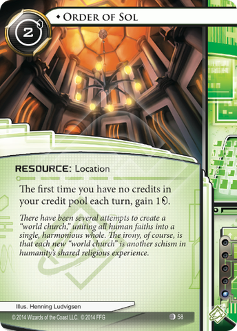 Android Netrunner Order of Sol Image