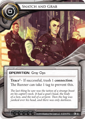 Android Netrunner Snatch and Grab Image