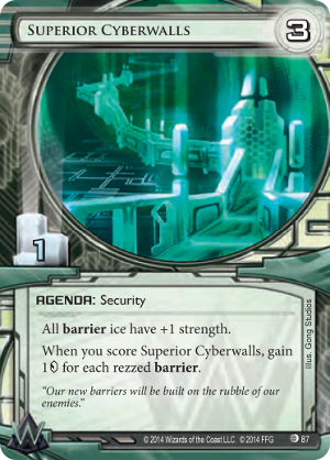 Android Netrunner Superior Cyberwalls Image