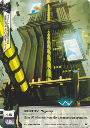 Android Netrunner Weyland Consortium: Building a Better World Image