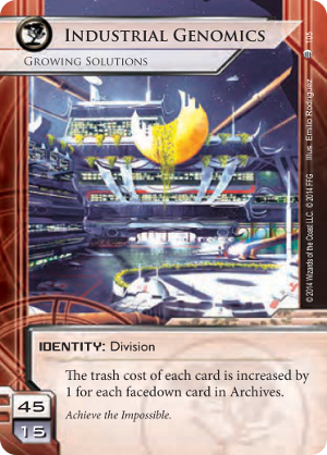 Android Netrunner Industrial Genomics: Growing Solutions Image