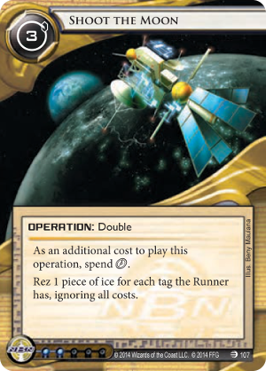 Android Netrunner Shoot the Moon Image