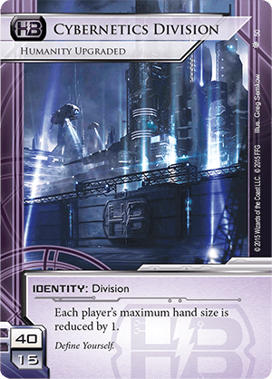 Android Netrunner Cybernetics Division: Humanity Upgraded Image